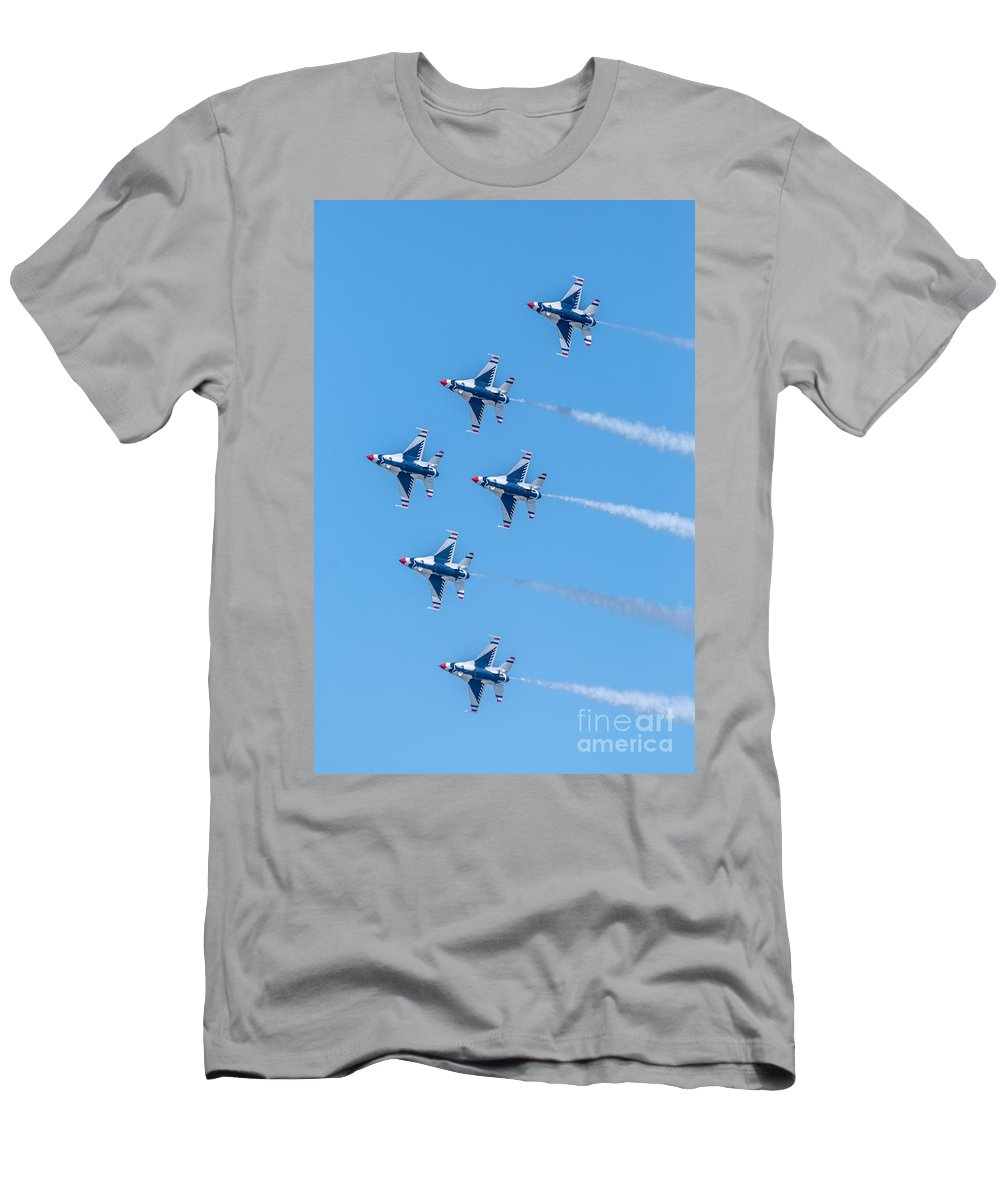 Thunderbirds Men's T-Shirt (Athletic Fit) featuring the photograph Thunderbirds In Formation by Amel Dizdarevic