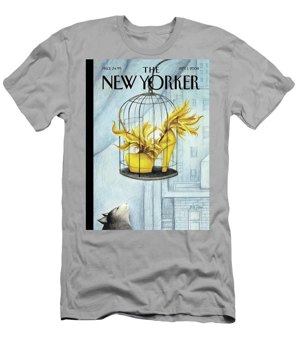 Bird T-Shirt featuring the painting Object of Desire by Ana Juan