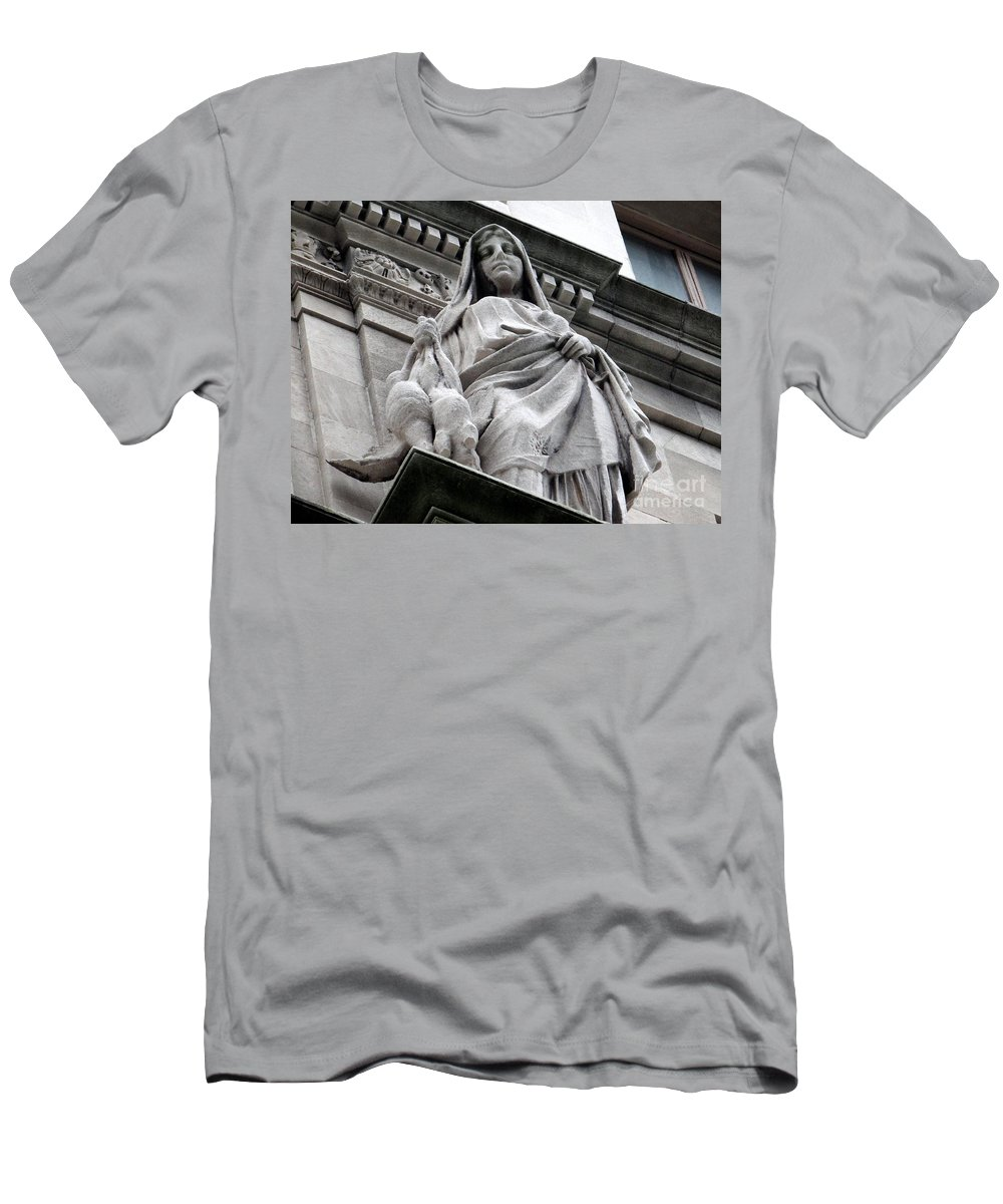Statue Men's T-Shirt (Athletic Fit) featuring the photograph Untitled by Ed Weidman