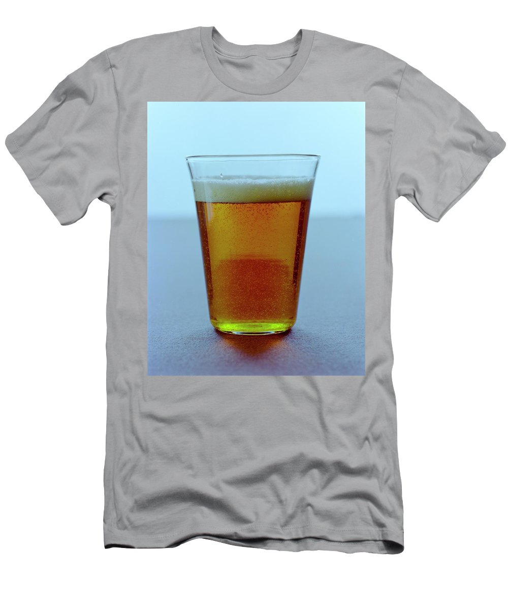 Beverage T-Shirt featuring the photograph A Glass Of Beer by Romulo Yanes