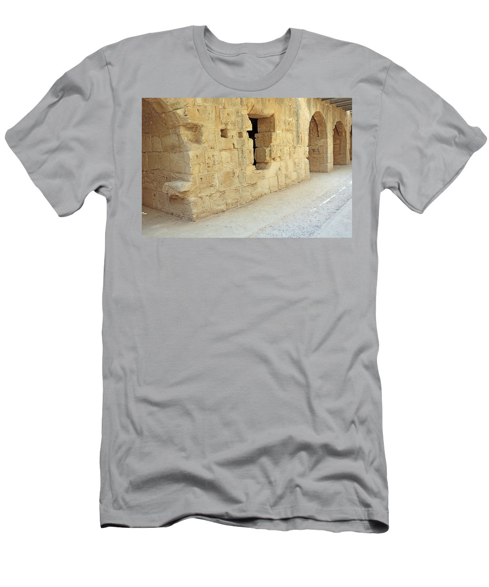 Colosseum Men's T-Shirt (Athletic Fit) featuring the photograph Amphitheatre by Paul Fell