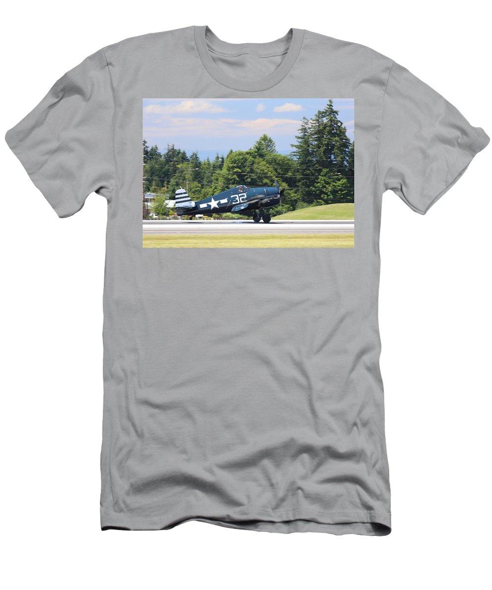 Grumman Men's T-Shirt (Athletic Fit) featuring the photograph Grumman Hellcat by Paul Fell