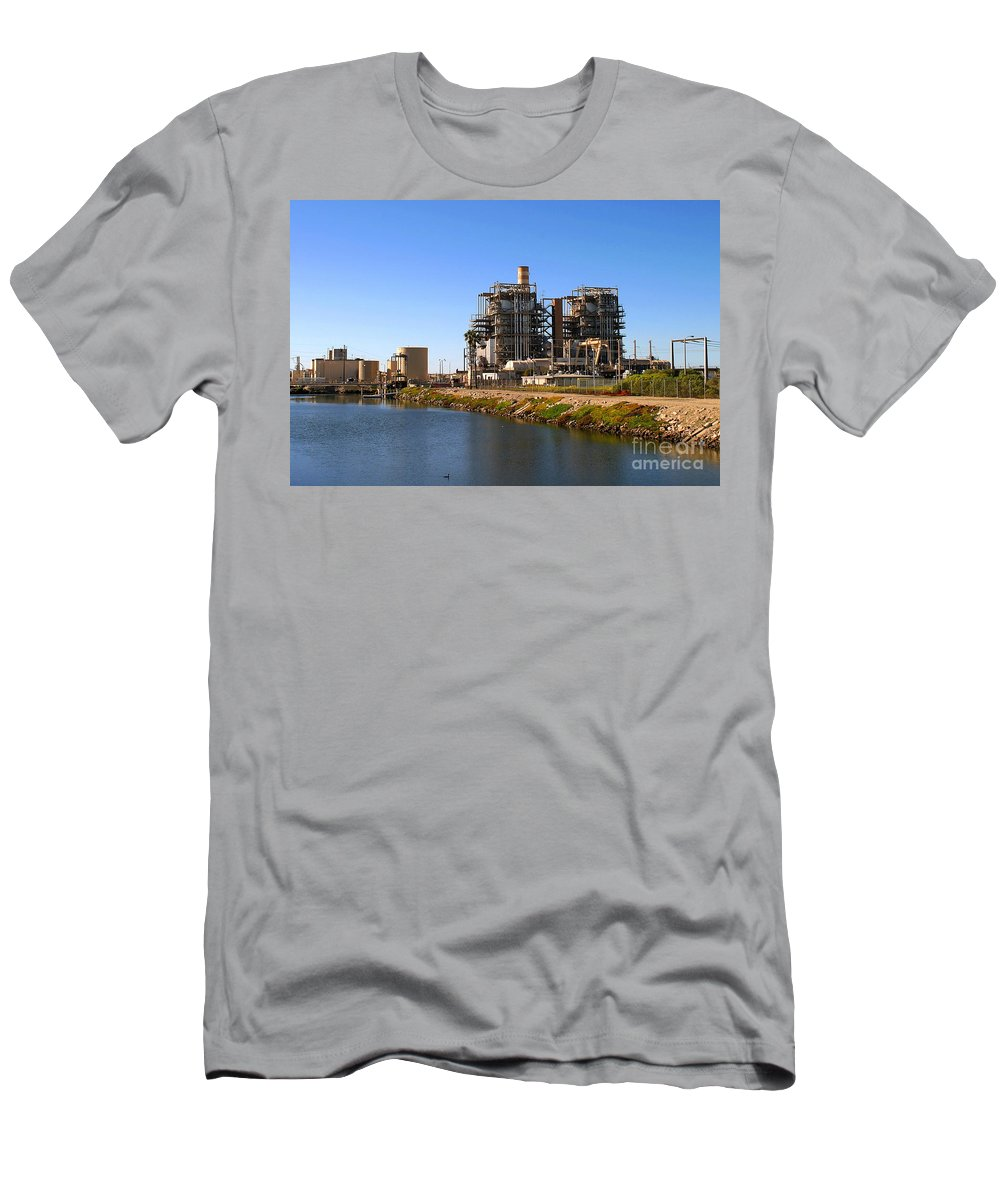 Air Men's T-Shirt (Athletic Fit) featuring the photograph Power Station by Henrik Lehnerer
