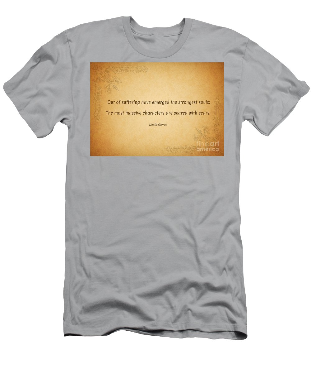 Men's T-Shirt (Athletic Fit) featuring the photograph 63- Khalil Gibran by Joseph Keane