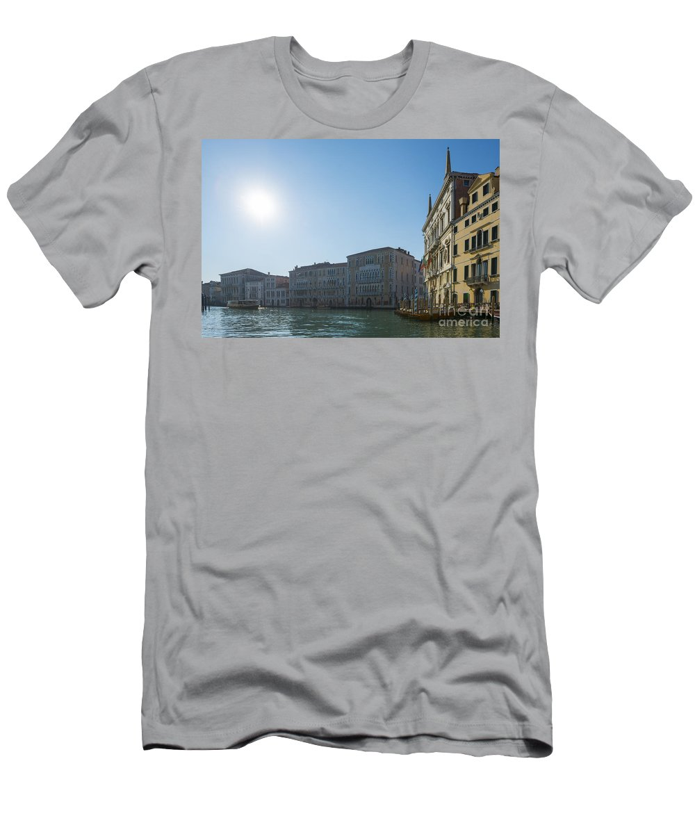 Gran Canal Men's T-Shirt (Athletic Fit) featuring the photograph Gran Canal by Mats Silvan