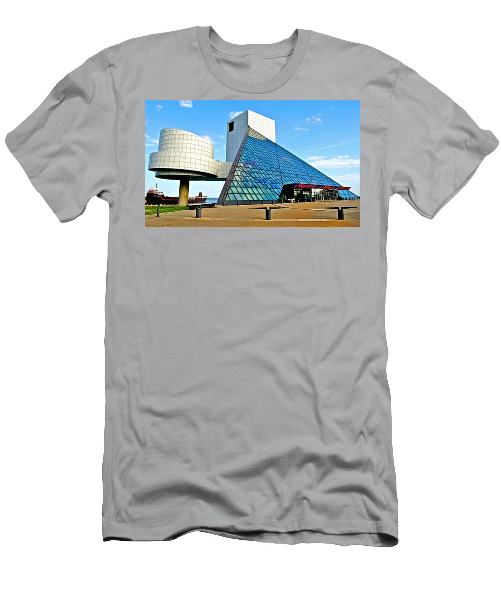 Rock T-Shirt featuring the photograph Rock and Roll Hall of Fame by Frozen in Time Fine Art Photography