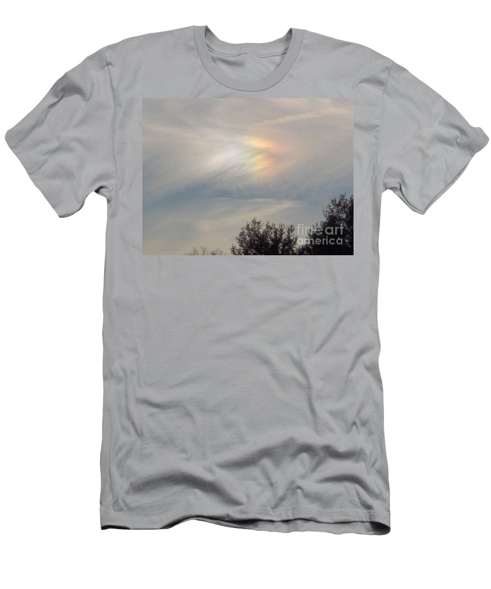 Cloud Men's T-Shirt (Athletic Fit) featuring the photograph A Sun Dog by D Hackett
