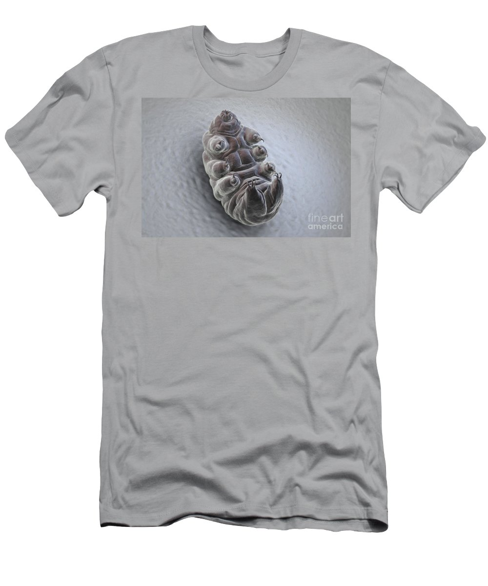 Protostomia Men's T-Shirt (Athletic Fit) featuring the photograph Water Bear Tardigrades by Science Picture Co