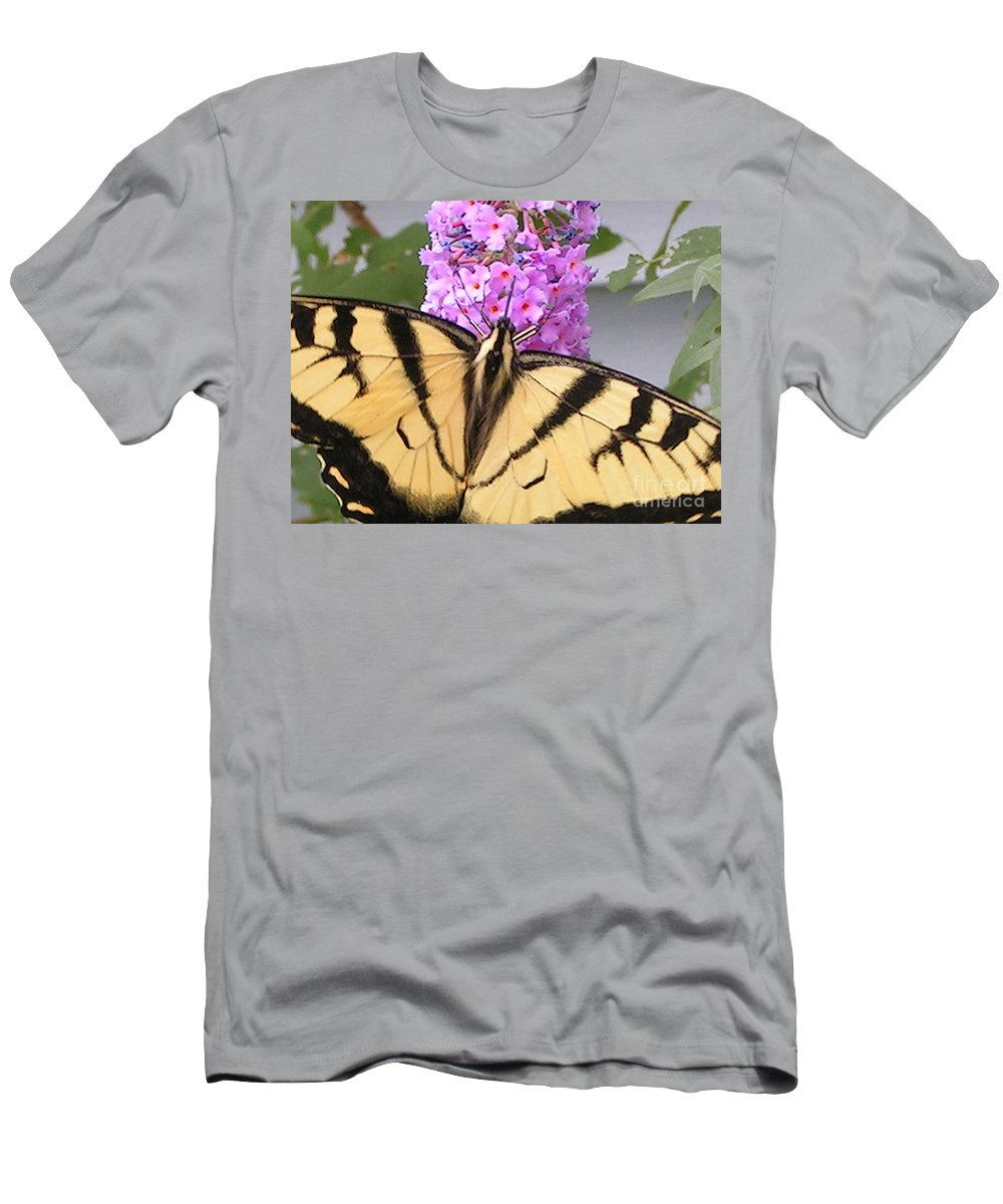 Swallowtail Men's T-Shirt (Athletic Fit) featuring the photograph #859 D480 Swallowtail 2010.jpg by Robin Lee Mccarthy Photography