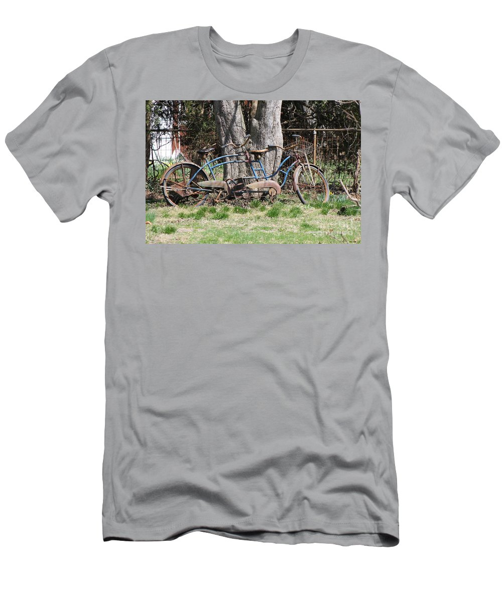 Bicycle Men's T-Shirt (Athletic Fit) featuring the photograph A Bicycle Built For Two by Bobby Cole