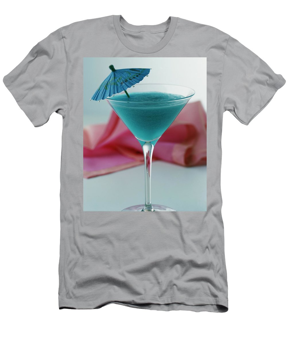 Beverage T-Shirt featuring the photograph A Blue Hawaiian Cocktail by Romulo Yanes