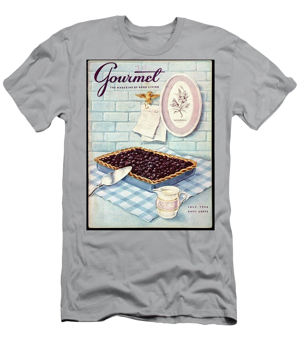 Food T-Shirt featuring the photograph A Blueberry Tart by Hilary Knight