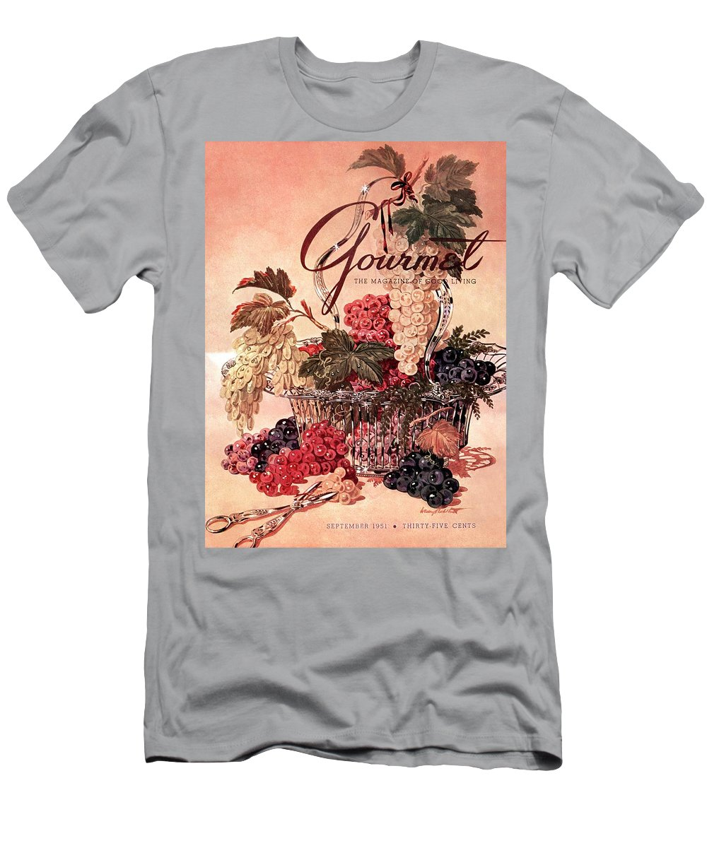 Illustration T-Shirt featuring the photograph A Gourmet Cover Of Grapes by Henry Stahlhut
