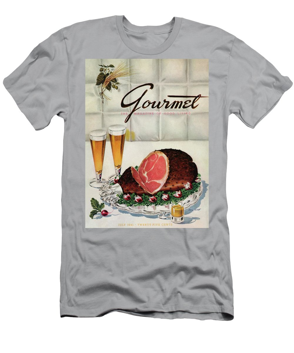Illustration T-Shirt featuring the photograph A Gourmet Cover Of Ham by Henry Stahlhut