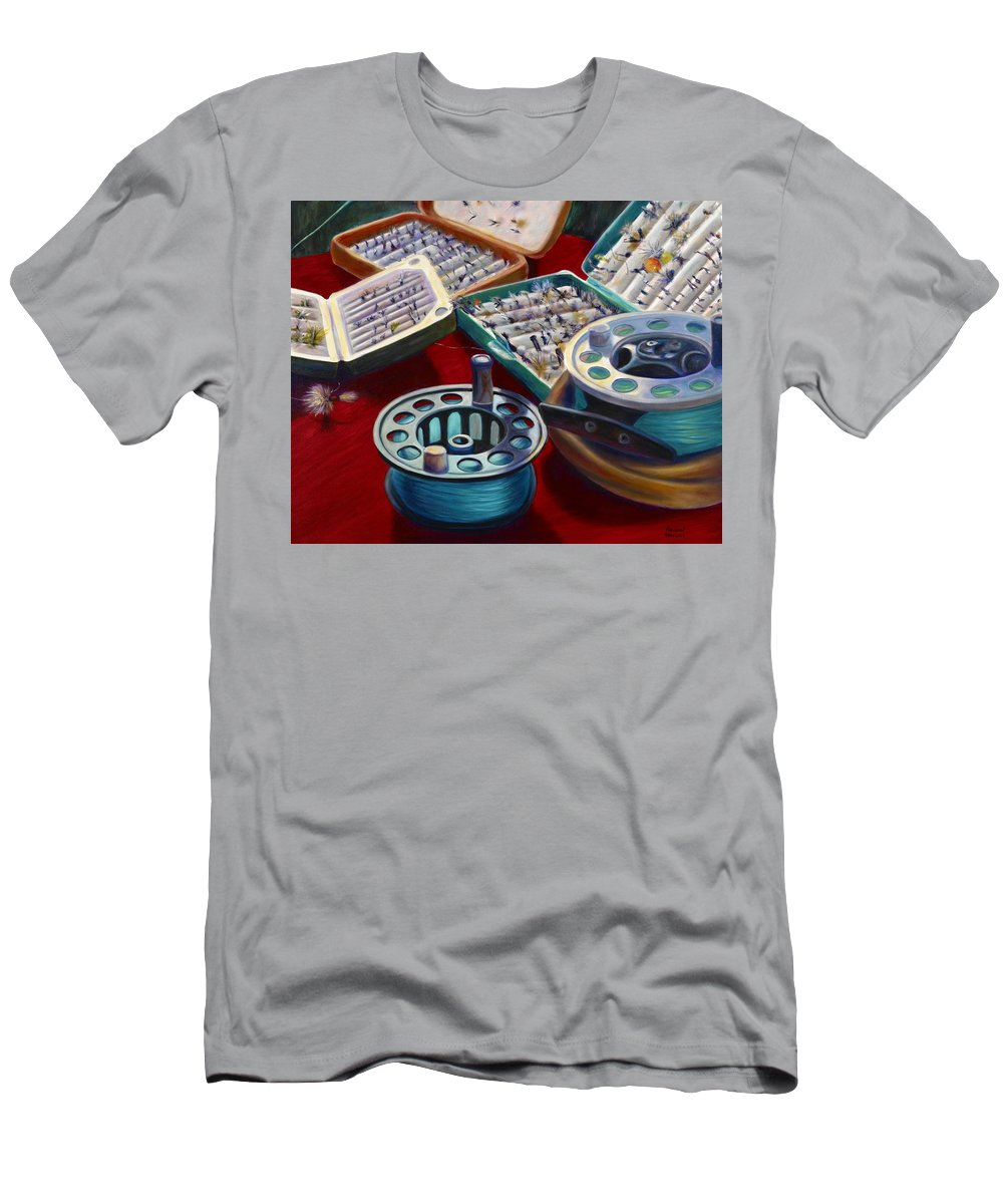 Still Life Men's T-Shirt (Athletic Fit) featuring the painting A Howard Runs Through It by Shannon Grissom
