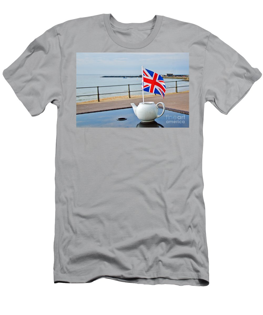 Lyme Regis Men's T-Shirt (Athletic Fit) featuring the photograph A Jubilee Cuppa by Susie Peek
