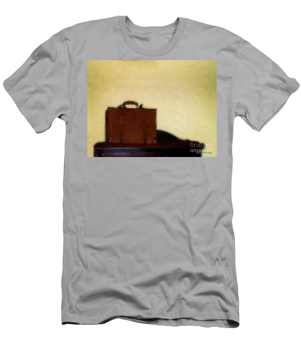 Briefcase Men's T-Shirt (Athletic Fit) featuring the painting A Life In Brief by RC DeWinter