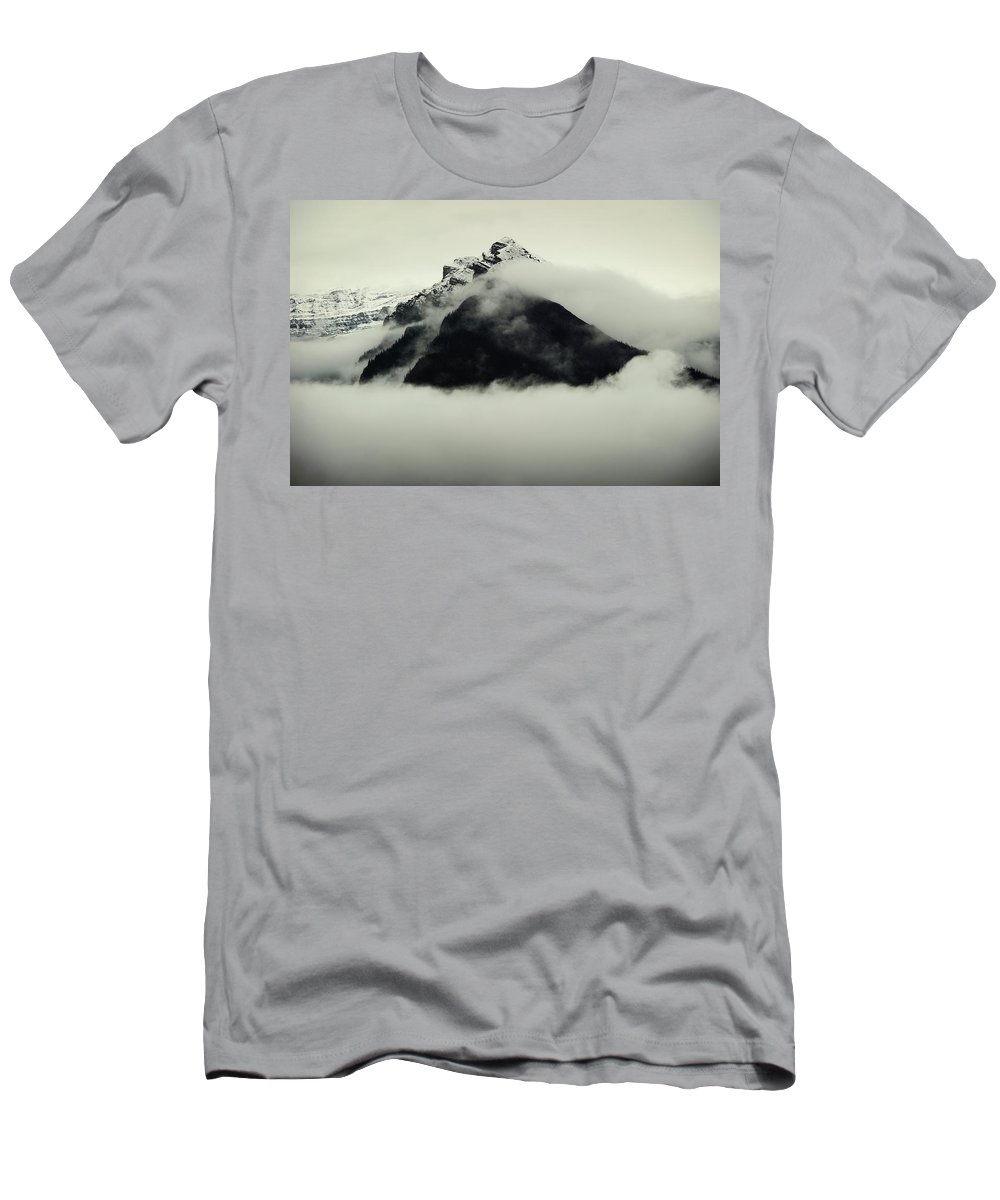 Alberta Men's T-Shirt (Athletic Fit) featuring the photograph A Mountain Scene by Todd Korol