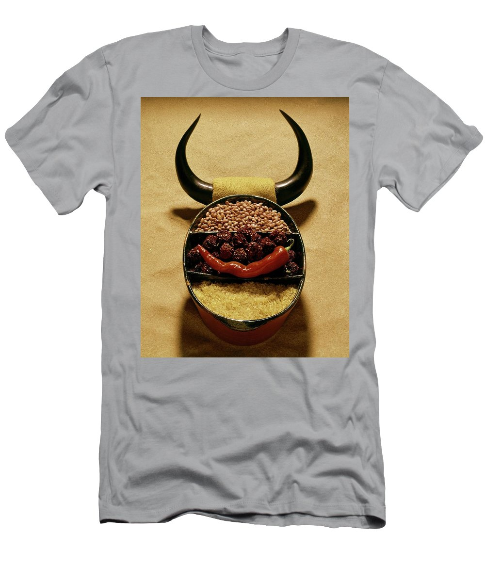 Food Men's T-Shirt (Athletic Fit) featuring the photograph A Pot With Beans by Rudy Muller