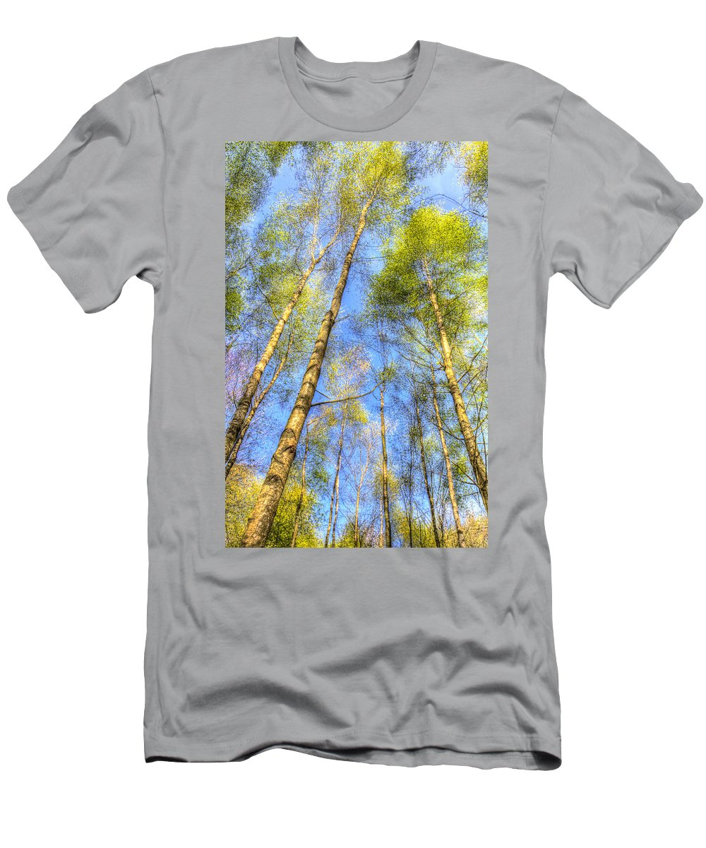 Forest Men's T-Shirt (Athletic Fit) featuring the photograph A Summer Forest by David Pyatt