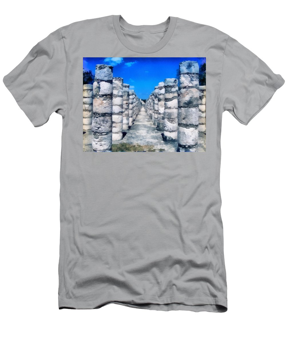 America Men's T-Shirt (Athletic Fit) featuring the digital art A Thousand Columns by Roy Pedersen