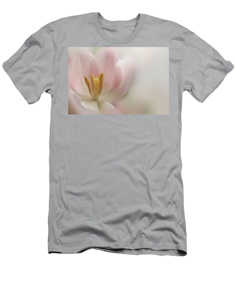 Floral Men's T-Shirt (Athletic Fit) featuring the photograph A Touch Of Pink by Annie Snel