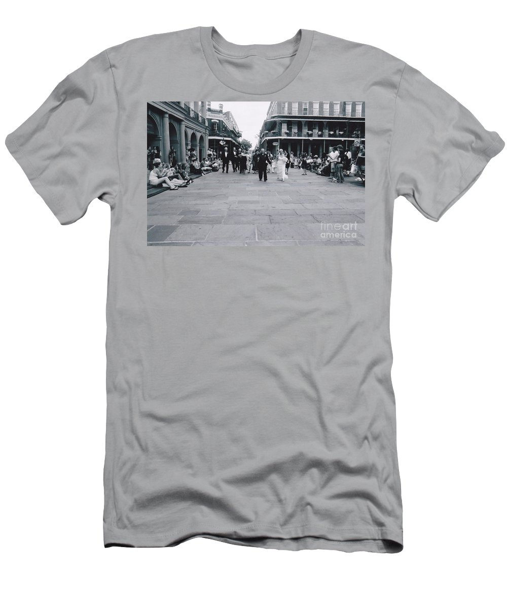 Church Men's T-Shirt (Athletic Fit) featuring the photograph A Wedding In Jackson Square by Michelle Powell