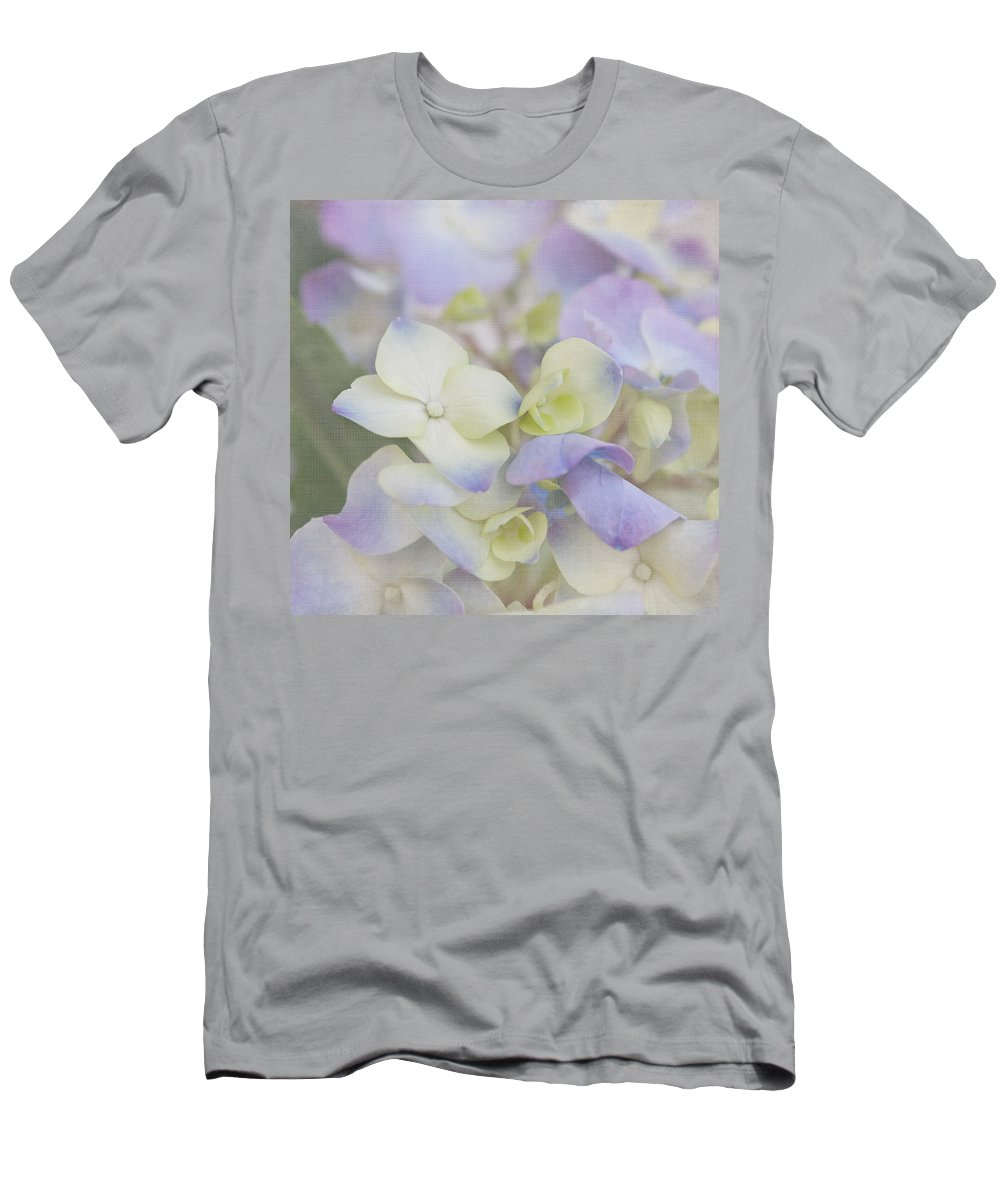 Hydrangea Men's T-Shirt (Athletic Fit) featuring the photograph A Whisper by Kim Hojnacki