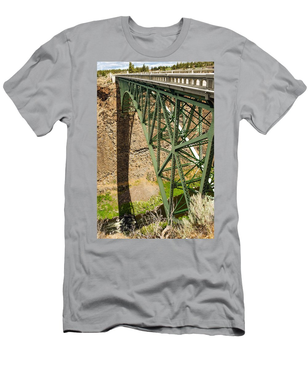 Bridge Men's T-Shirt (Athletic Fit) featuring the photograph Abandoned Highway Vertical by Jess Kraft