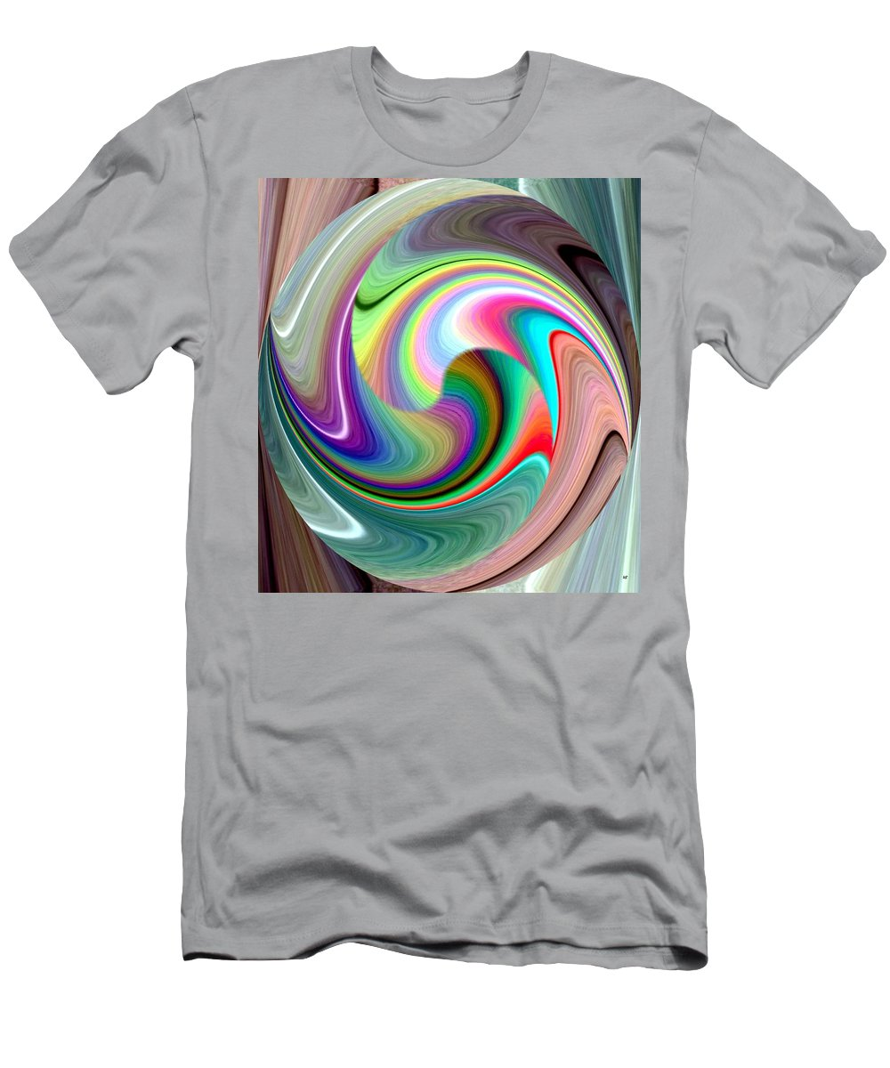 Abstract Fusion 241 Men's T-Shirt (Athletic Fit) featuring the digital art Abstract Fusion 241 by Will Borden