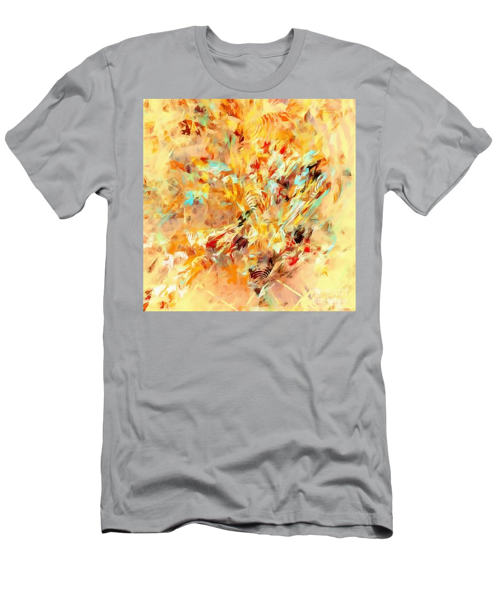 Graphics Men's T-Shirt (Athletic Fit) featuring the digital art Abstraction 0263 Marucii by Marek Lutek