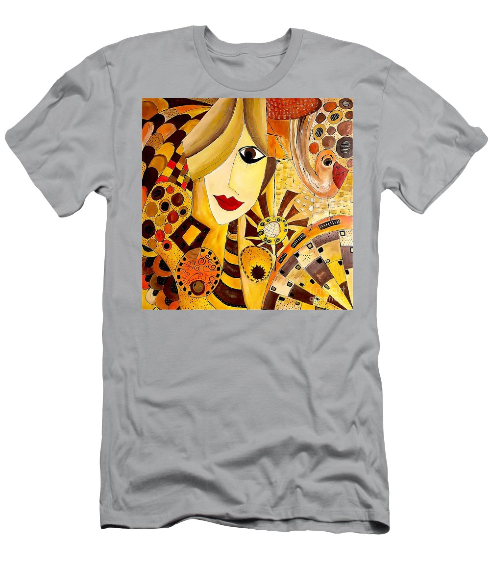 Graphic Men's T-Shirt (Athletic Fit) featuring the painting Abstraction 676 - Marucii by Marek Lutek
