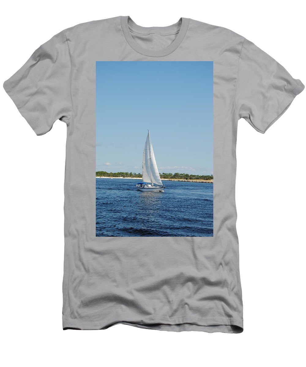 Afternoon On The Bay Men's T-Shirt (Athletic Fit) featuring the photograph Afternoon On The Bay by Charlie Day