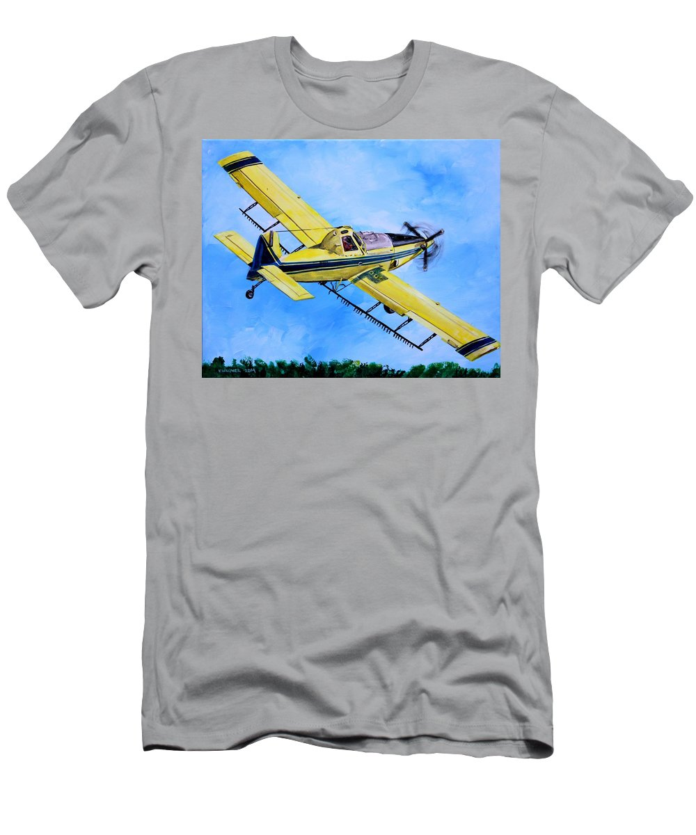 Aviation Men's T-Shirt (Athletic Fit) featuring the painting Air Tractor by Karl Wagner