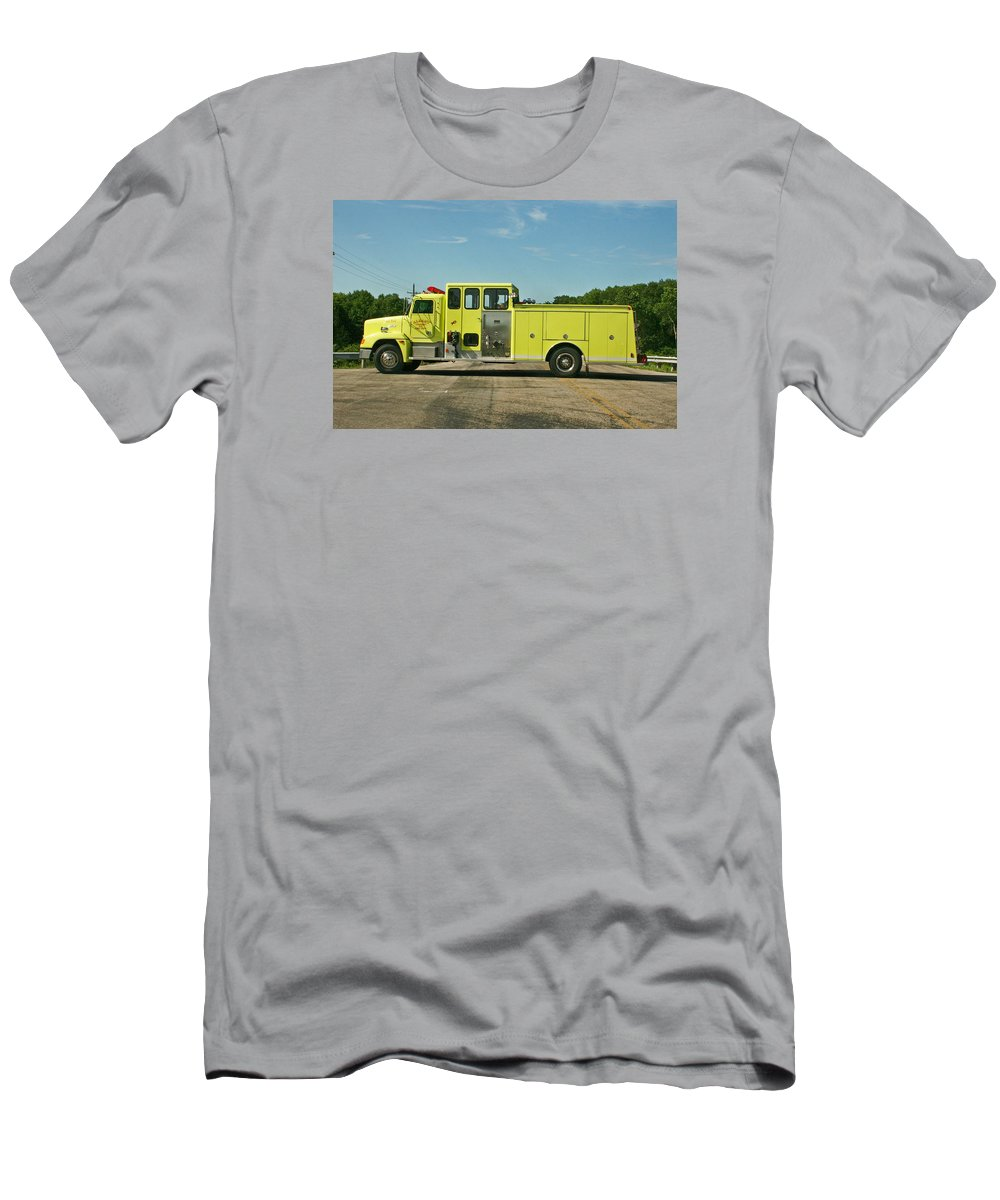 Fire Service Men's T-Shirt (Athletic Fit) featuring the photograph Albany Community Volunteer Fire Dept. 702 by Susan McMenamin