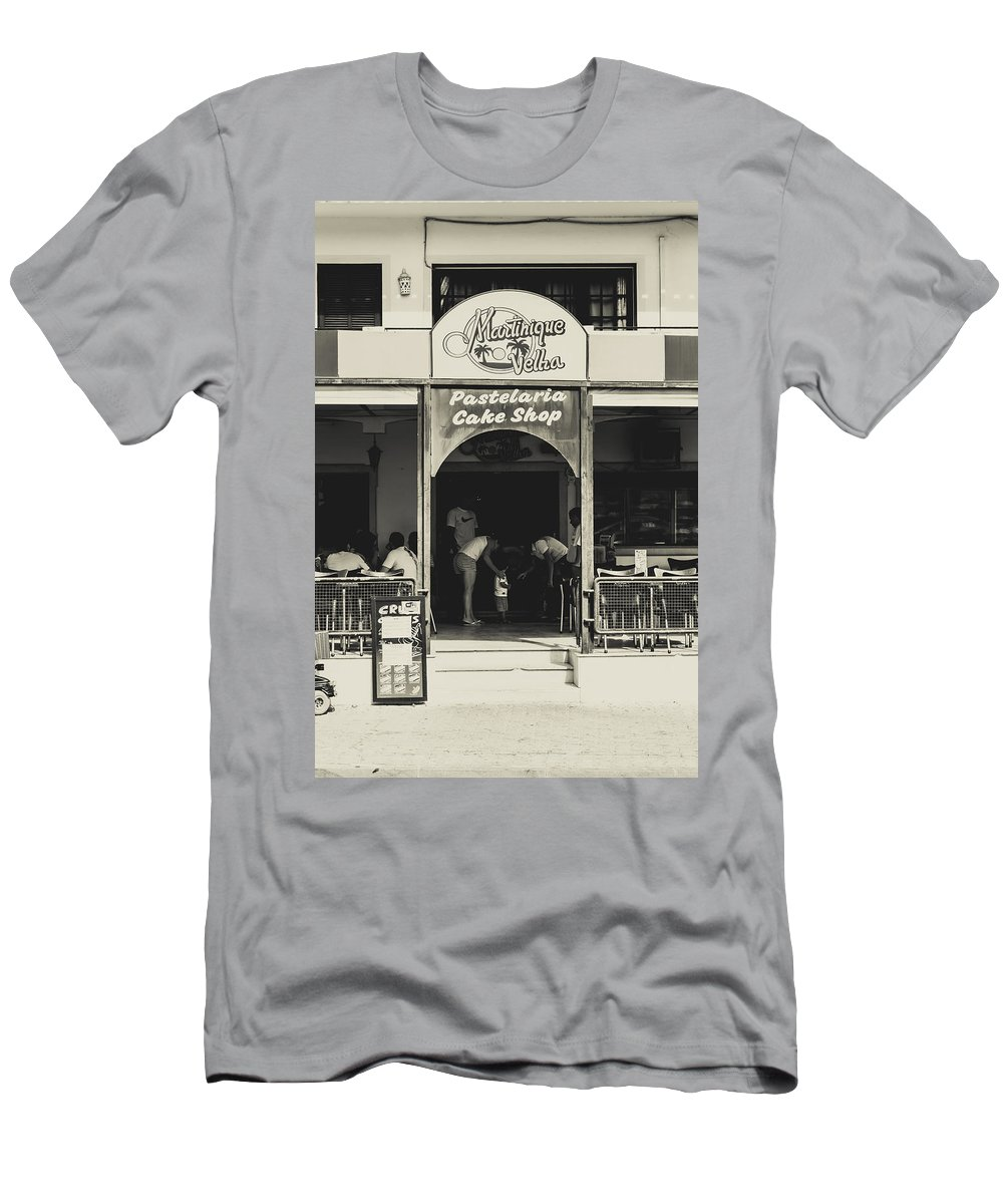 Street Men's T-Shirt (Athletic Fit) featuring the photograph Albufeira Street Series - Martinique Velha by Marco Oliveira