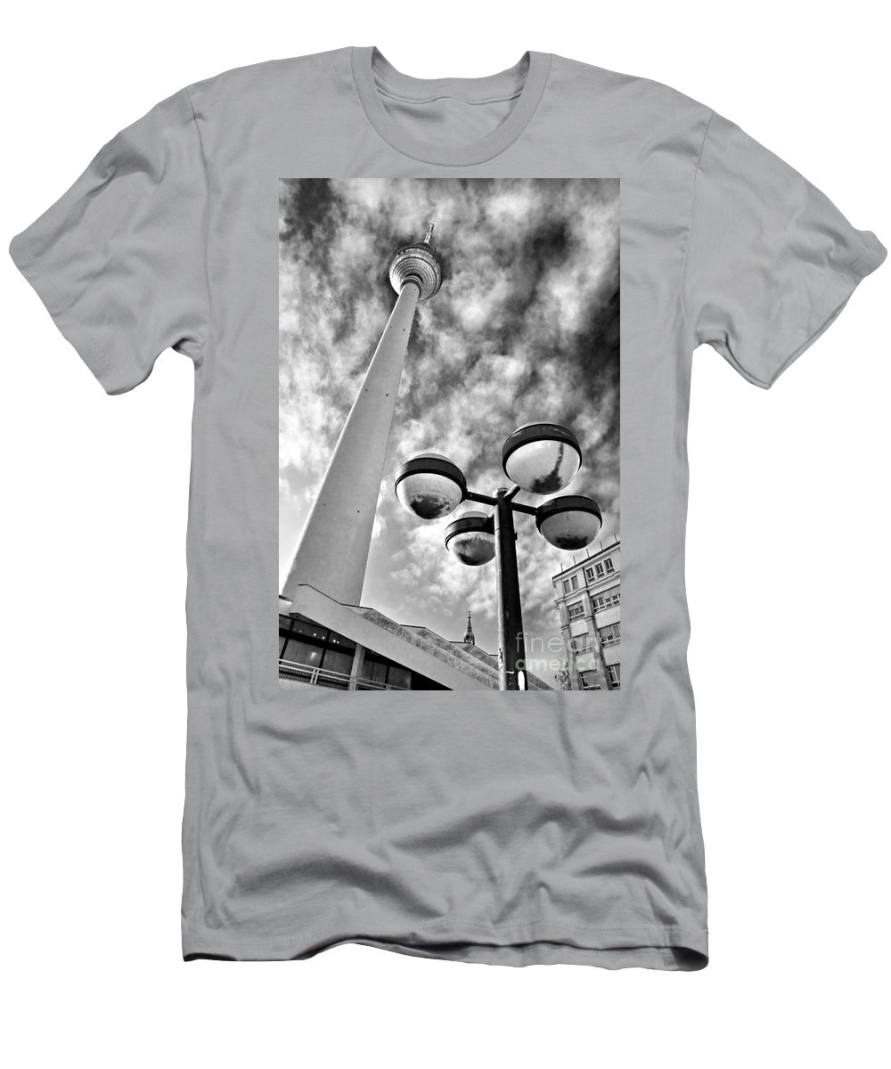 Tower Men's T-Shirt (Athletic Fit) featuring the photograph Alexander Platz - Berlin by Luciano Mortula