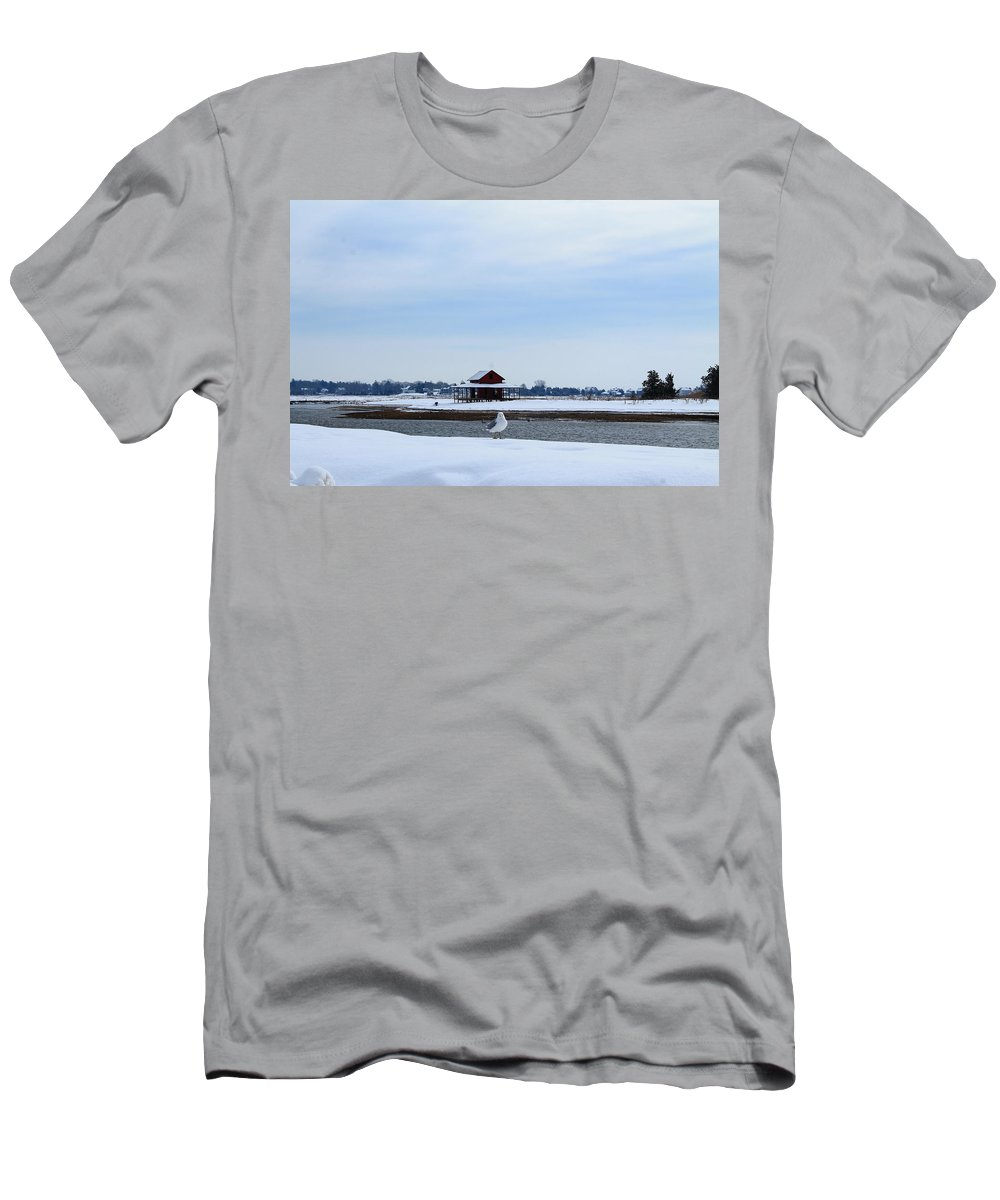 Guilford Men's T-Shirt (Athletic Fit) featuring the photograph All Alone by Catie Canetti