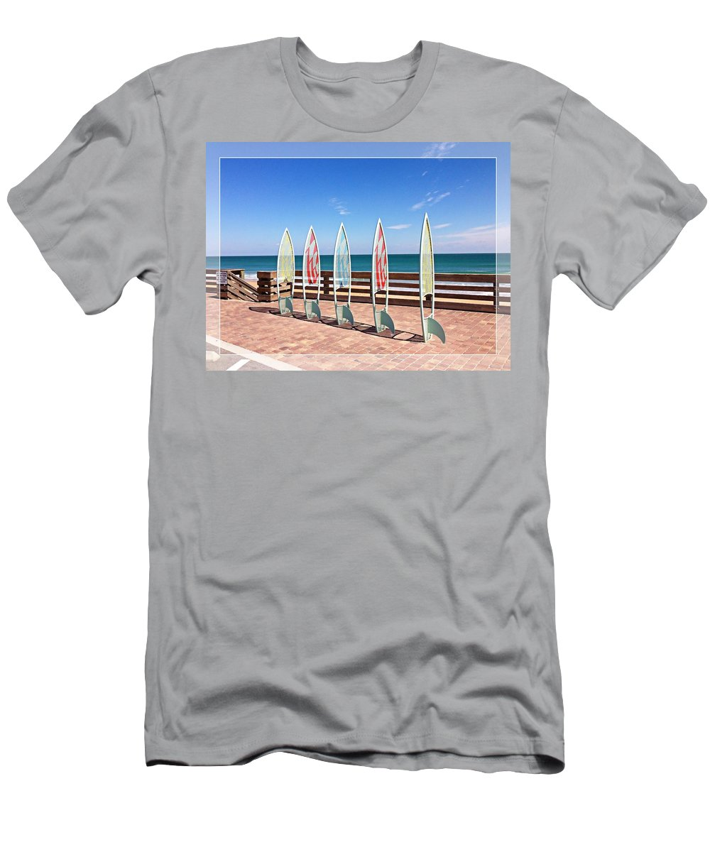 Daytona Beach Men's T-Shirt (Athletic Fit) featuring the photograph All In A Row Too by Alice Gipson