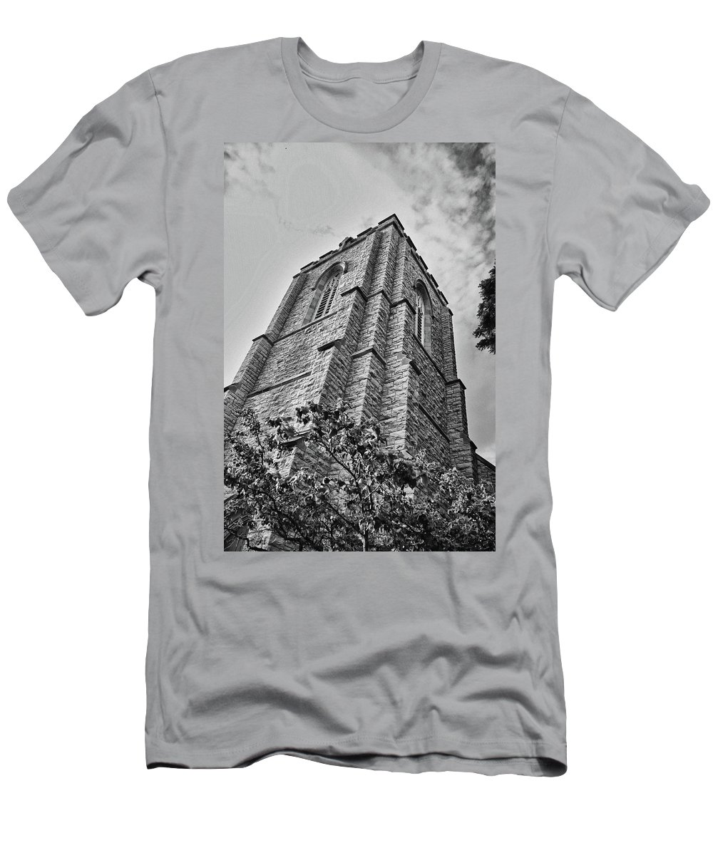 Buildings Men's T-Shirt (Athletic Fit) featuring the photograph All Saints 8353 by Guy Whiteley