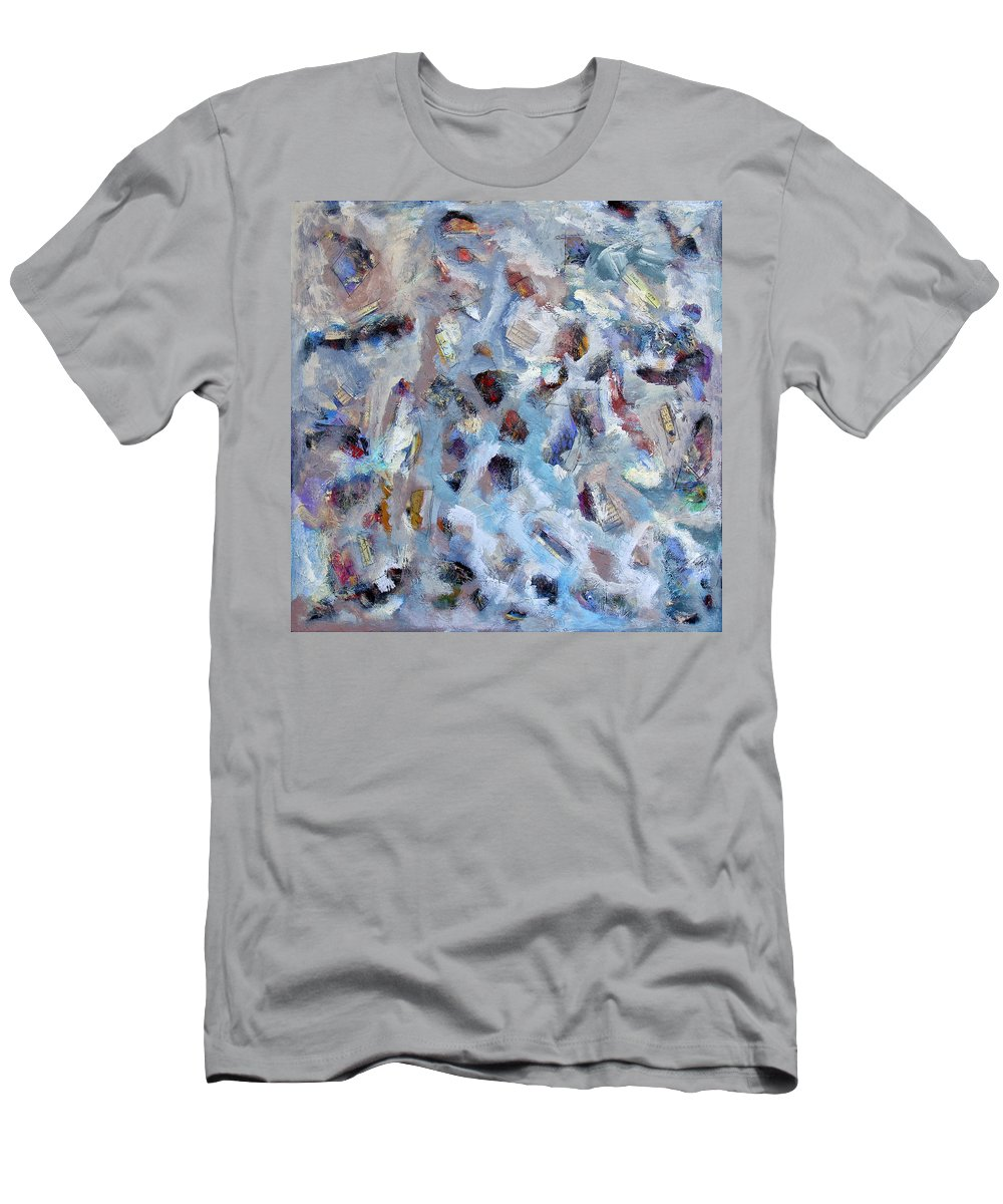 Letters Men's T-Shirt (Athletic Fit) featuring the painting All She Wrote 2 by Dominic Piperata