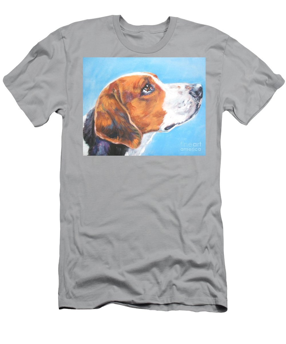 Dog Men's T-Shirt (Athletic Fit) featuring the painting American Foxhound by Lee Ann Shepard