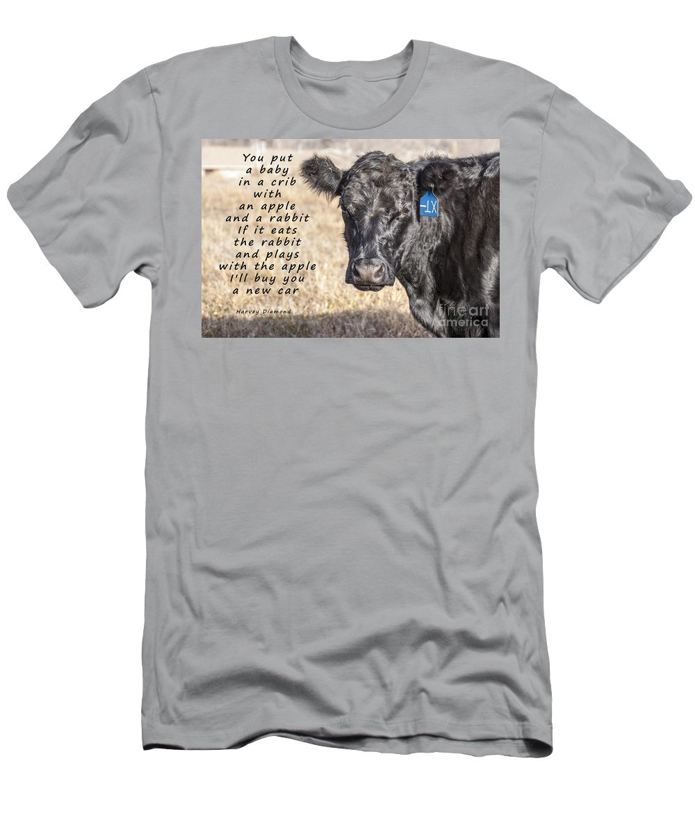 Diet Men's T-Shirt (Athletic Fit) featuring the photograph An Apple Or A Rabbit by Janice Pariza