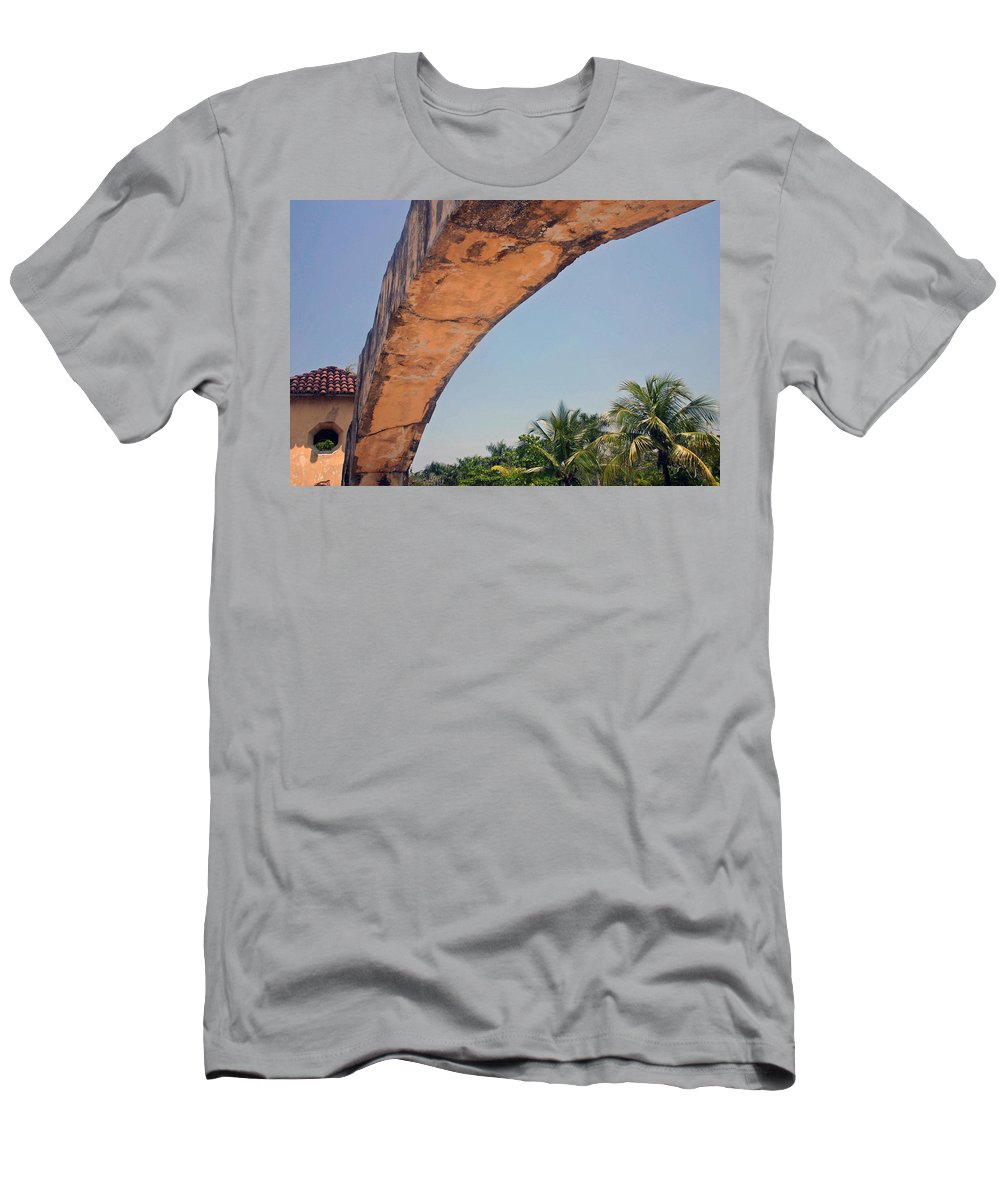 Cozumel Men's T-Shirt (Athletic Fit) featuring the photograph An Arch In Cozumela by Cora Wandel