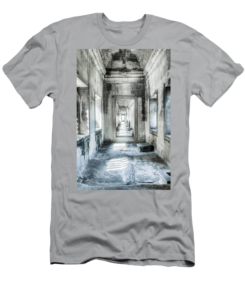 Angkor Wat Men's T-Shirt (Athletic Fit) featuring the photograph Angkor Wat Gallery by Alexey Stiop