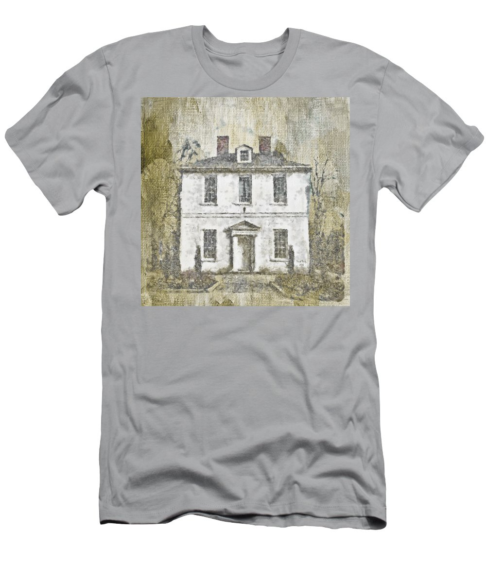 House Men's T-Shirt (Athletic Fit) featuring the mixed media Animal House by Trish Tritz