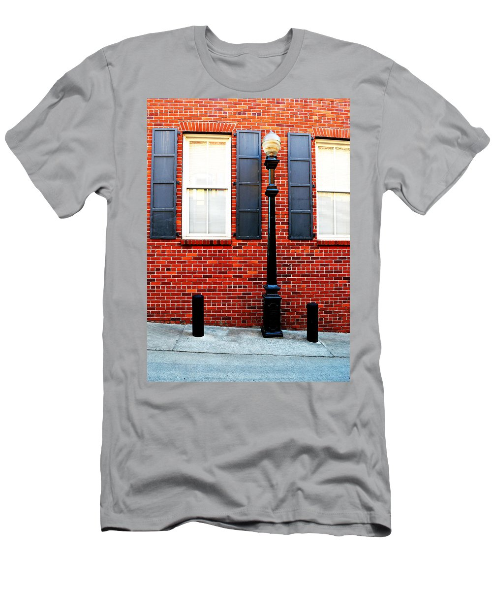 Brick Men's T-Shirt (Athletic Fit) featuring the photograph Another Brick In The Wall by Holly Blunkall