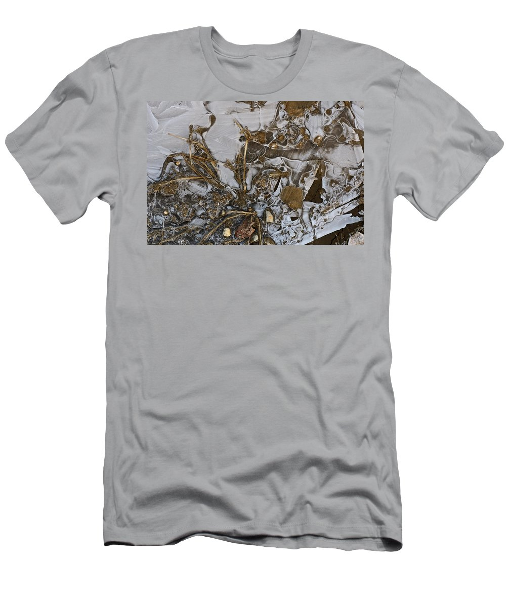 Ice Men's T-Shirt (Athletic Fit) featuring the photograph Apparitions On Ice by Susan Capuano