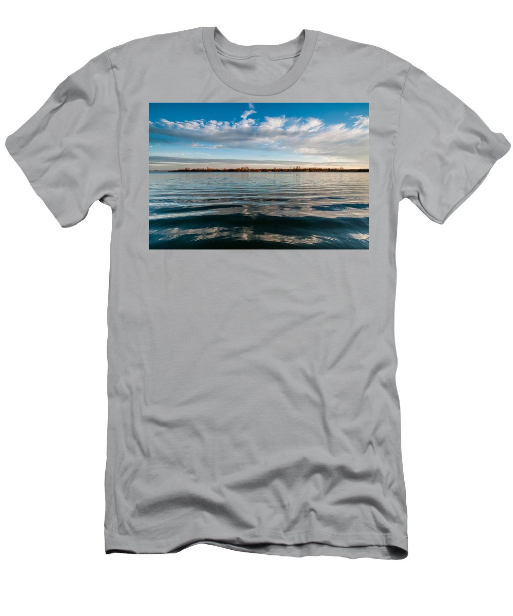 Landscapes Men's T-Shirt (Athletic Fit) featuring the photograph Aquatic Hypnotic by Davorin Mance