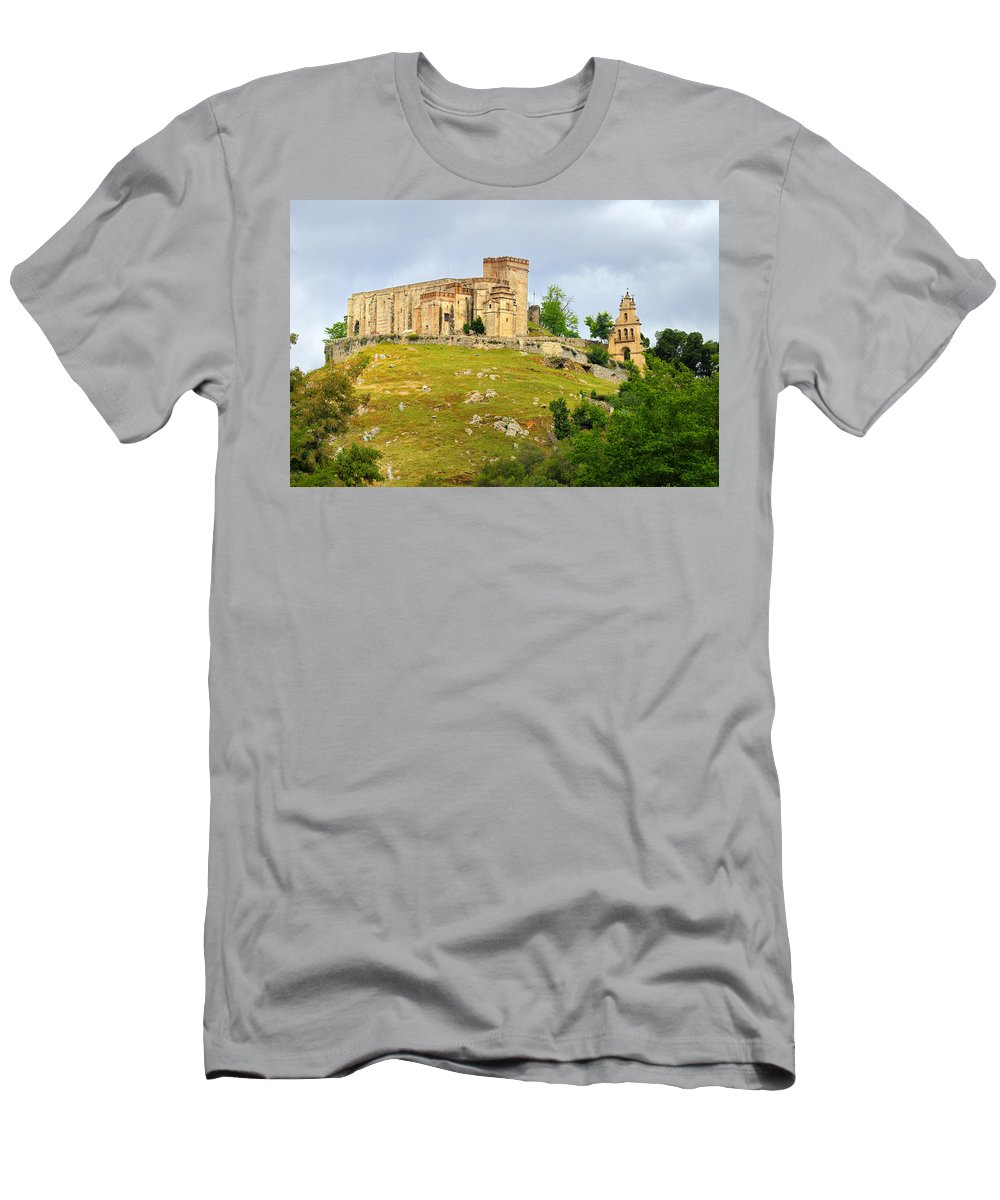 Palace Men's T-Shirt (Athletic Fit) featuring the photograph Aracena Castle Sxiii by Guido Montanes Castillo